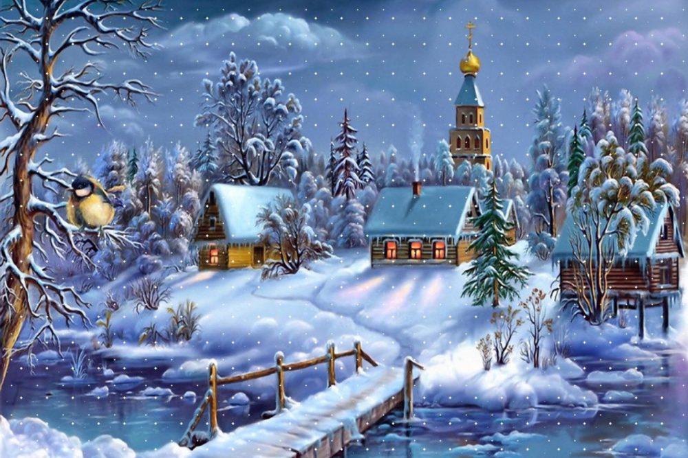 С рождеством христовым светлая открытка